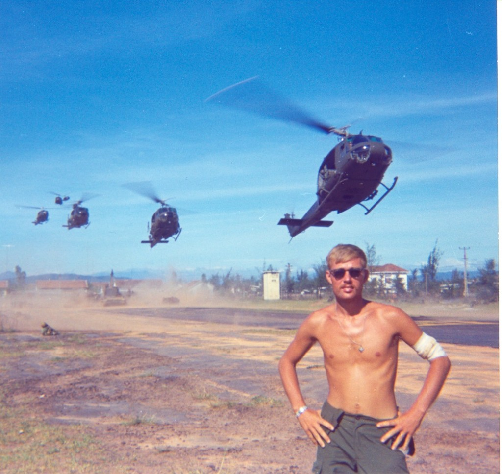 John with Choppers landing