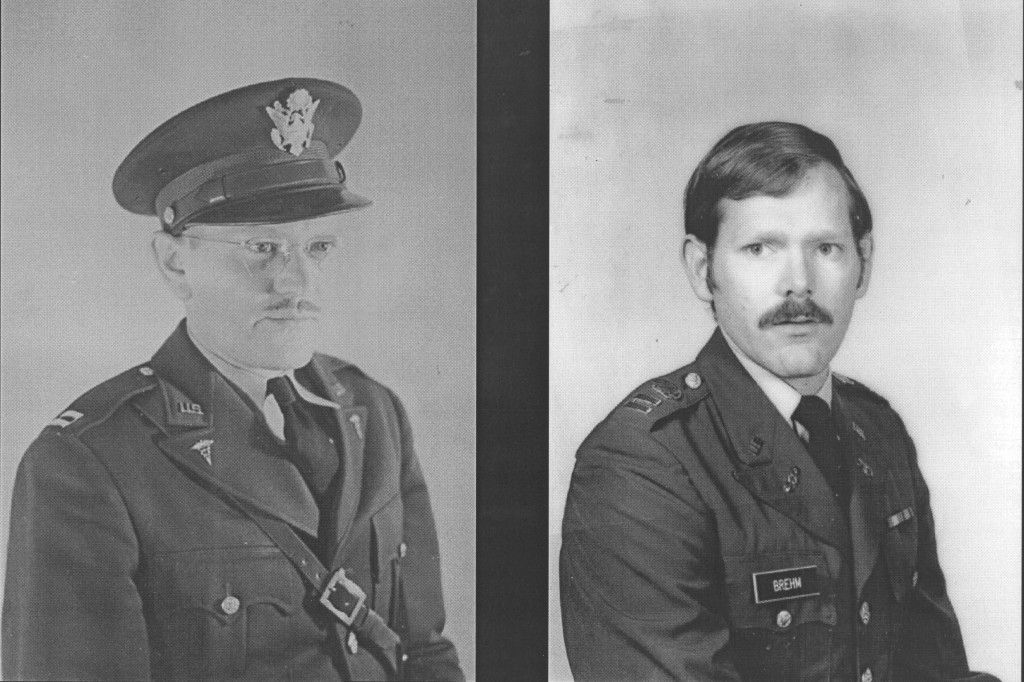 CPT (Dr) William Brehm 1942 and CPT Walter Brehm 1972