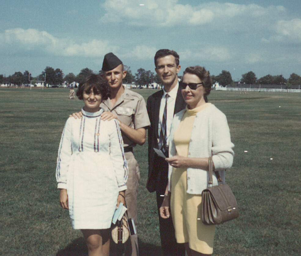 Doug Clark and family at Basic Graduation