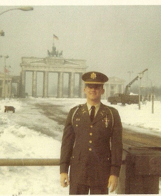Captain Eric Lampe at Brandenburg Gate