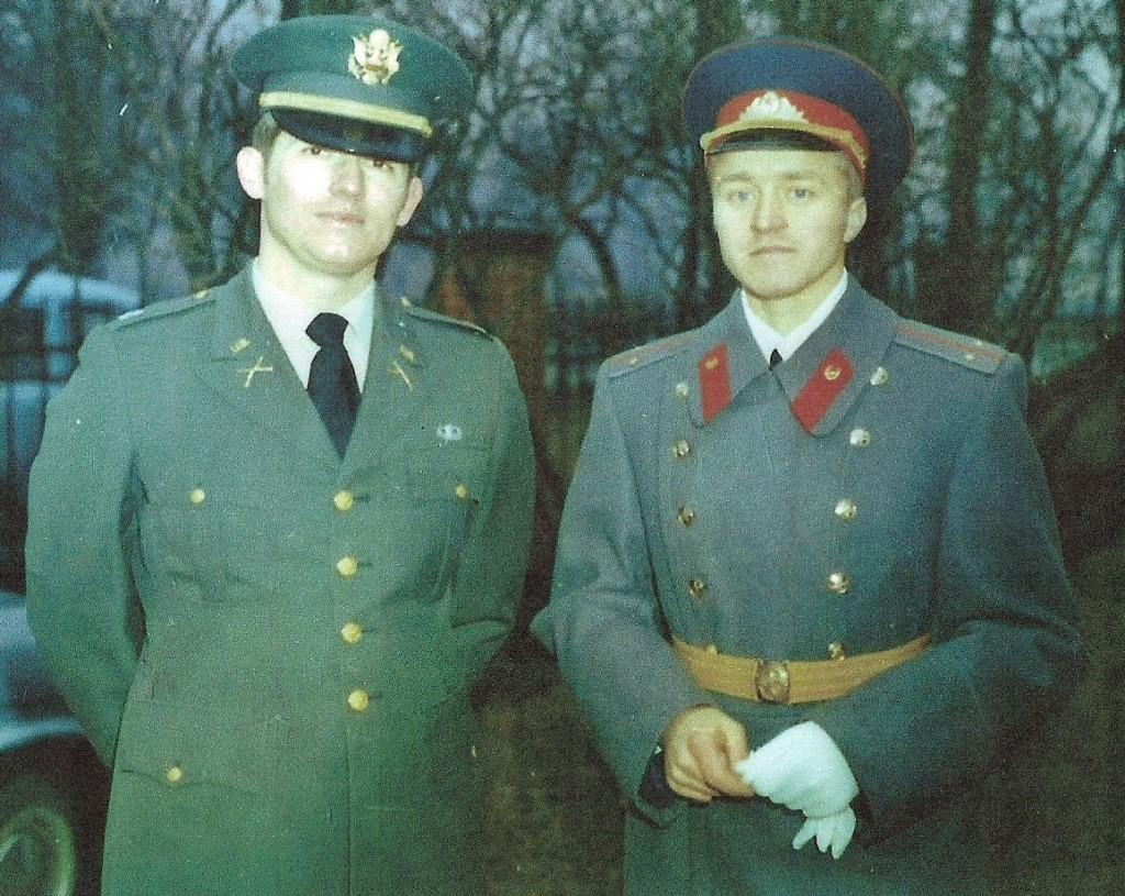 American and Russian Honor Guard Commanders at Spandau Prison in Berlin""